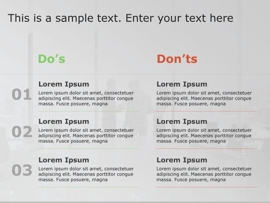 Dos Don't PowerPoint Template 61
