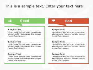 Good Bad PowerPoint Template 68