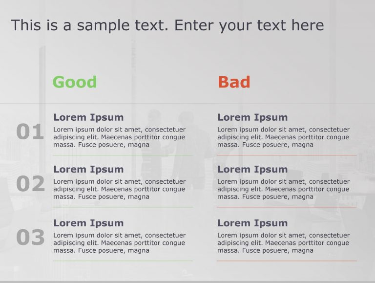 Good Bad PowerPoint Template 69