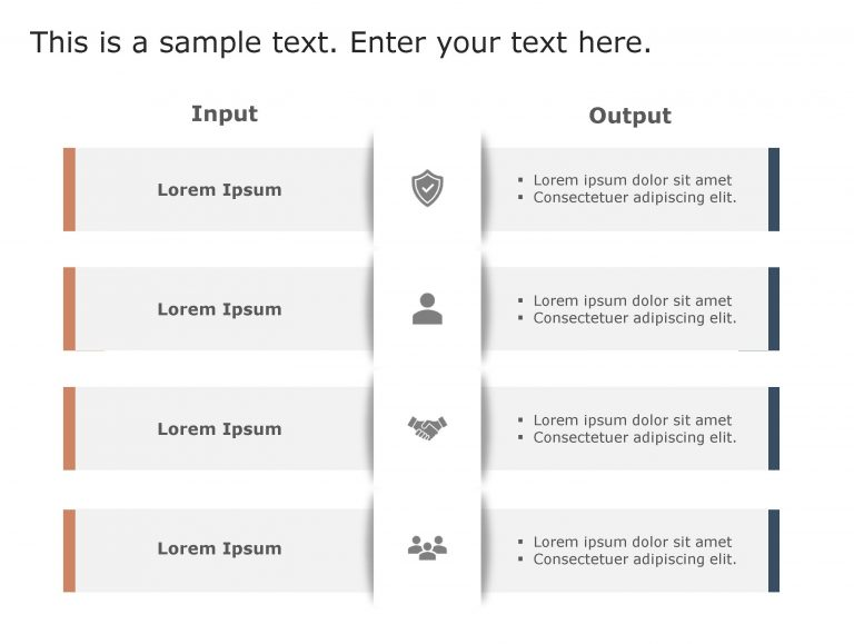 Input Output PowerPoint Template 91
