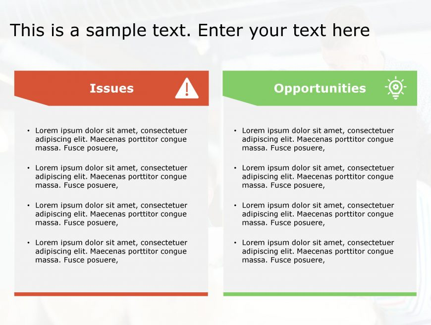 Issues Opportunities PowerPoint Template 100