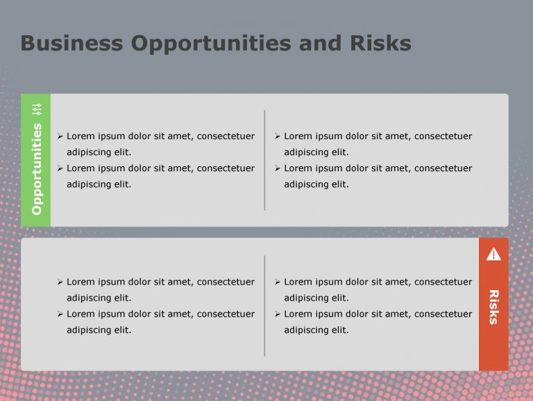 Risk PowerPoint Template 105