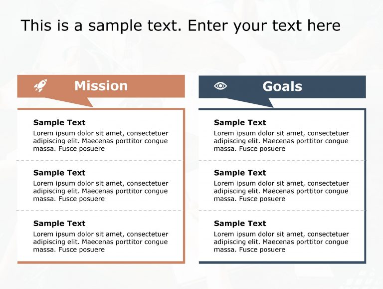Mission Goals PowerPoint Template 115