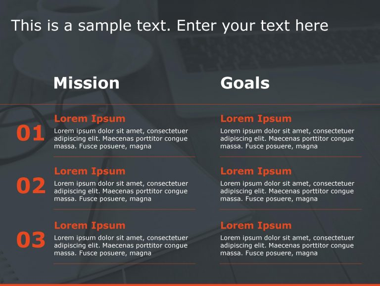 Mission Goals PowerPoint Template 116