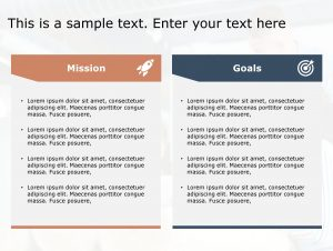 Mission Goals PowerPoint Template 119