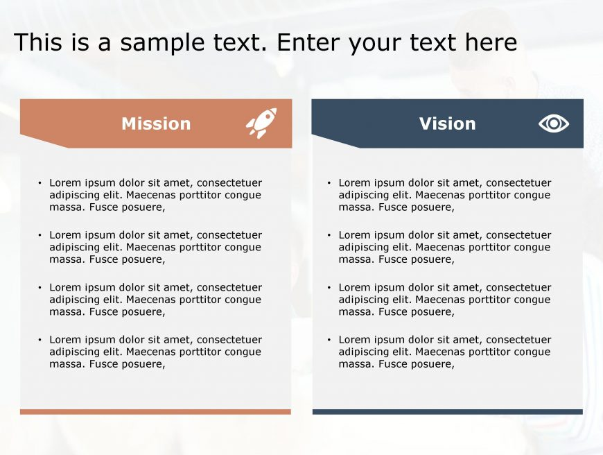 Mission Vision PowerPoint Template 124