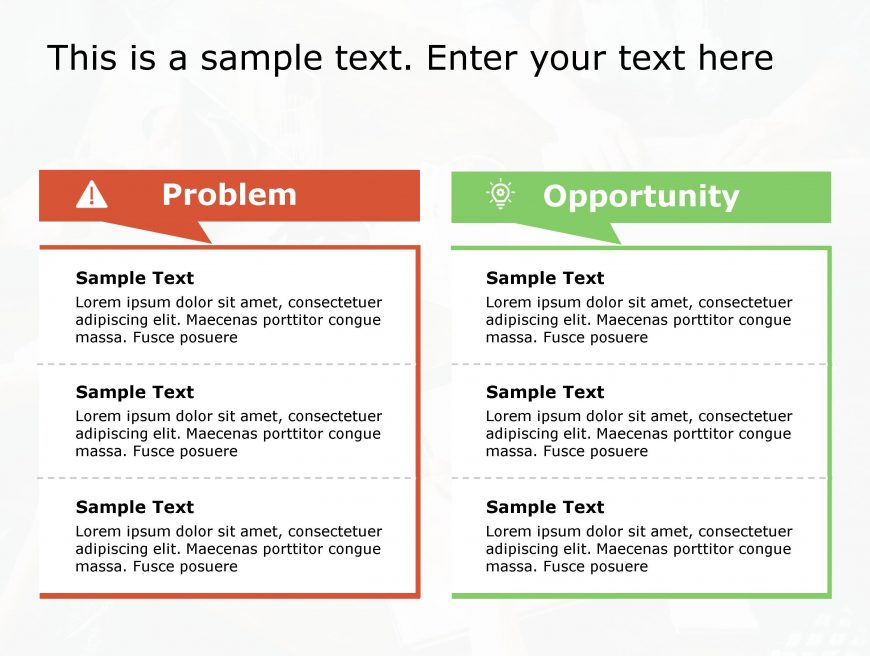 Problem Opportunity PowerPoint Template 128