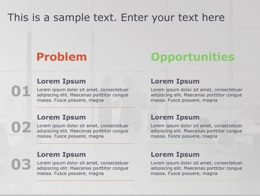 Problem Opportunity PowerPoint Template 129
