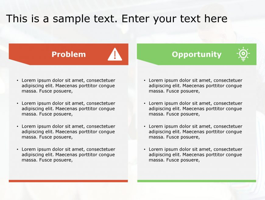 Problem Opportunity PowerPoint Template 133