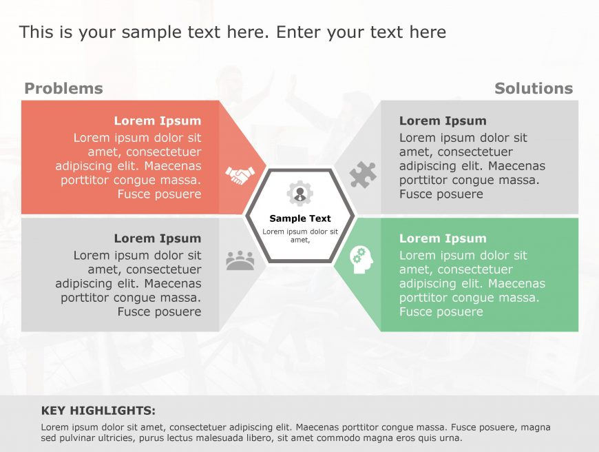 Problem Solution PowerPoint Template 134