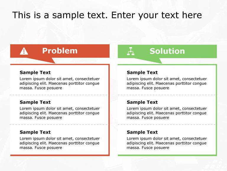 Problem Solution PowerPoint Template 138