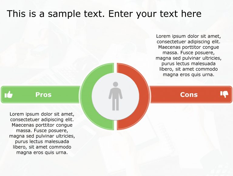Pros Cons PowerPoint Template 154
