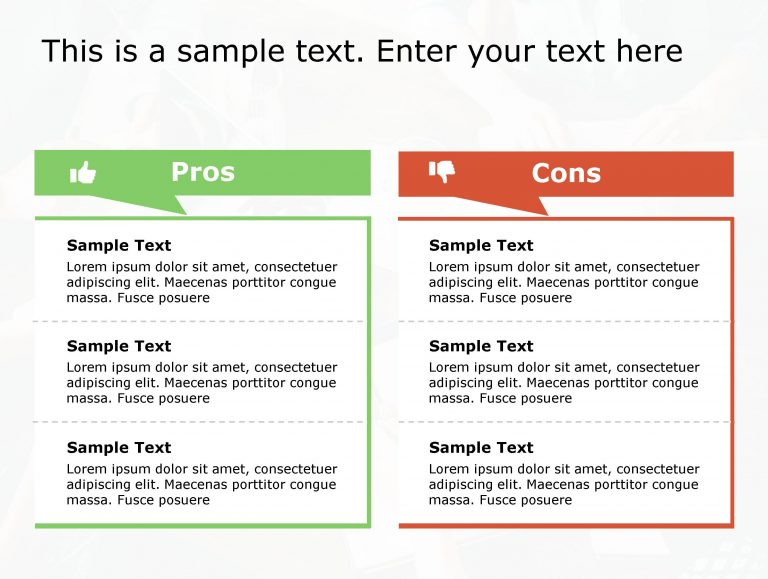 Pros Cons PowerPoint Template 155
