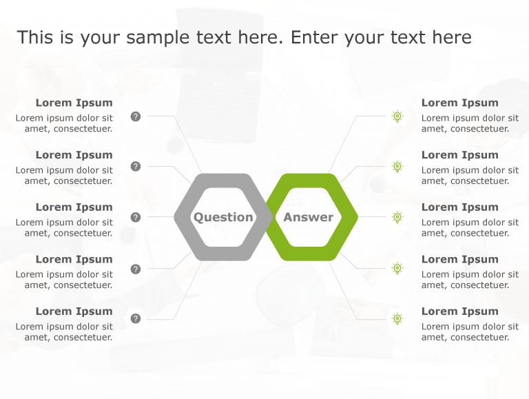 Question Answer PowerPoint Template 161