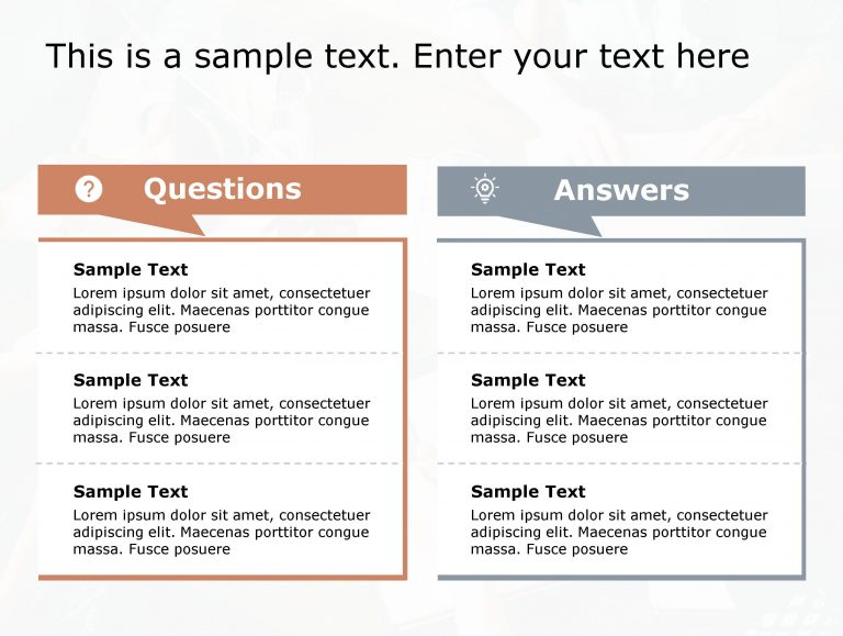 Question Answer PowerPoint Template 166