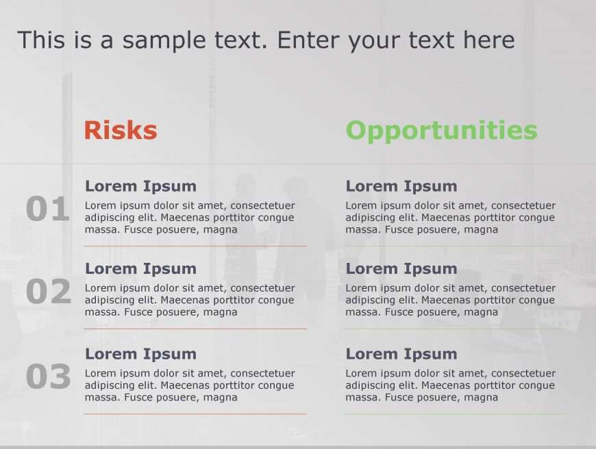 Risk Opportunity PowerPoint Template 175