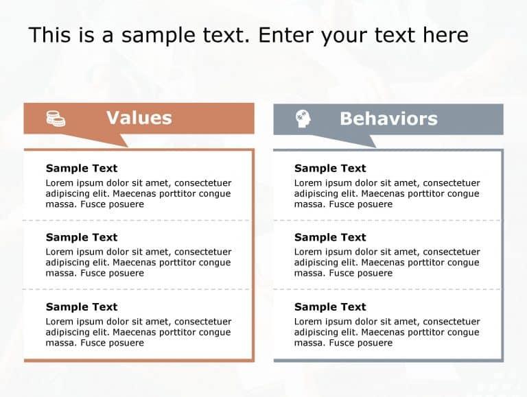 Values Behaviours PowerPoint Template 182