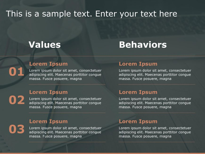 Values Behaviours PowerPoint Template 183