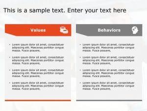 Values Behaviours PowerPoint Template 184