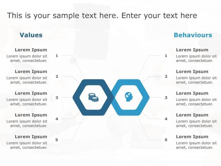 Values Behaviours PowerPoint Template 186