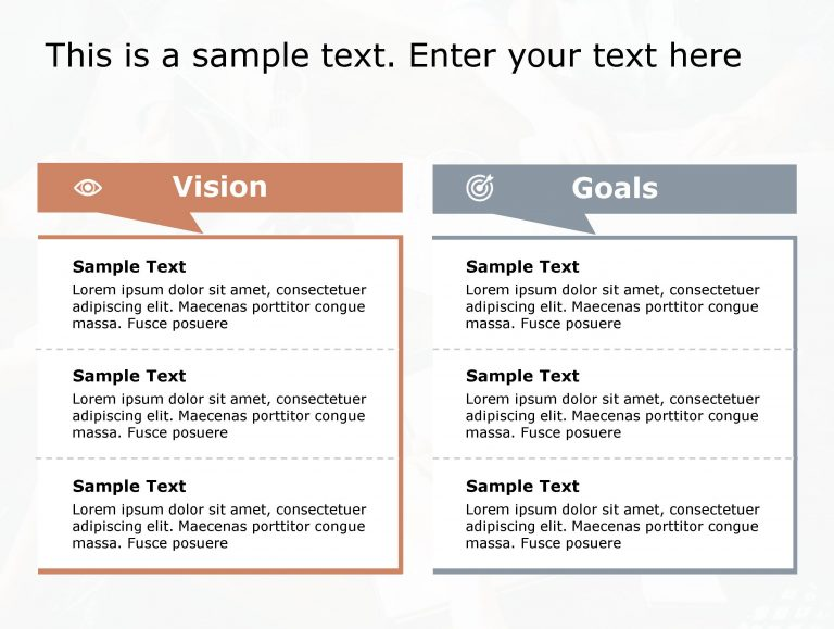 Vision Goals PowerPoint Template 191