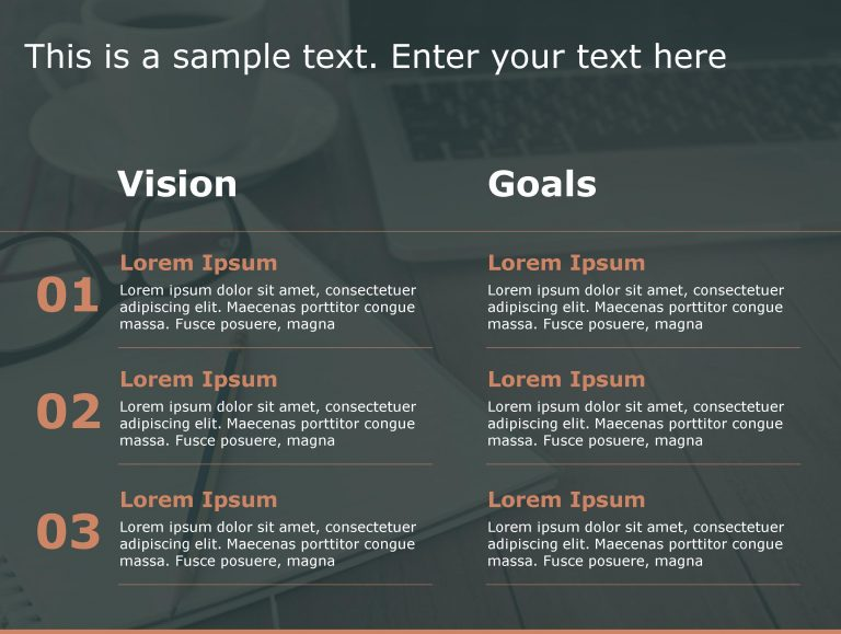 Vision Goals PowerPoint Template 192