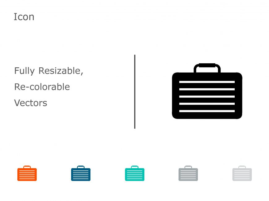Briefcase Business PowerPoint Icon 01