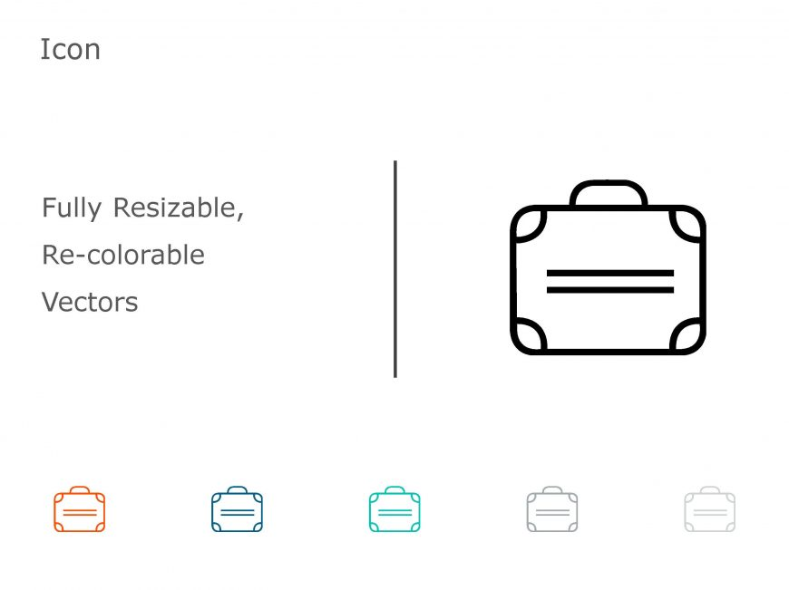 Briefcase Business PowerPoint Icon 03