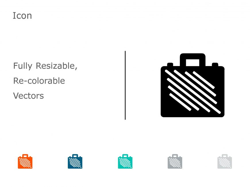 Briefcase Business PowerPoint Icon 04
