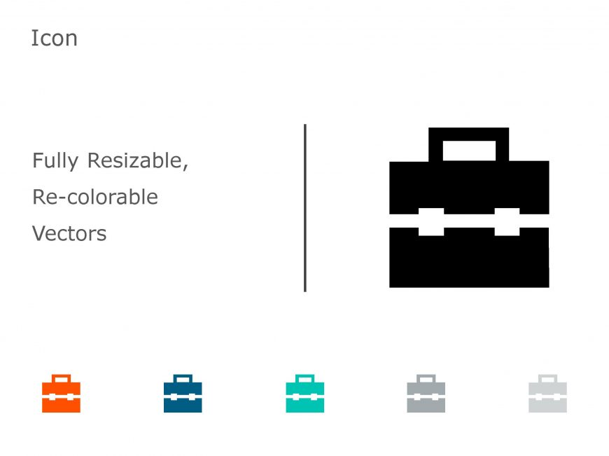Briefcase Business PowerPoint Icon 12