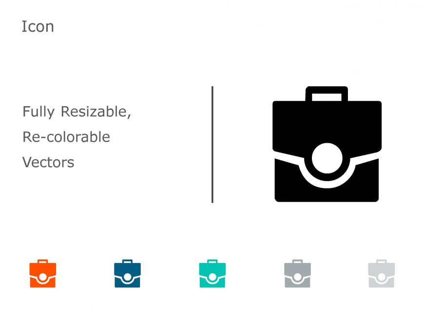Briefcase Business PowerPoint Icon 13