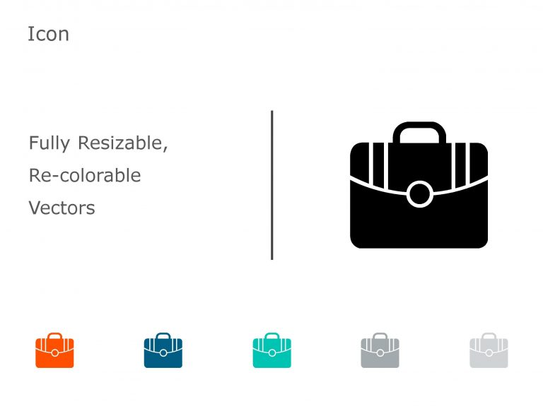 Briefcase Business PowerPoint Icon 17