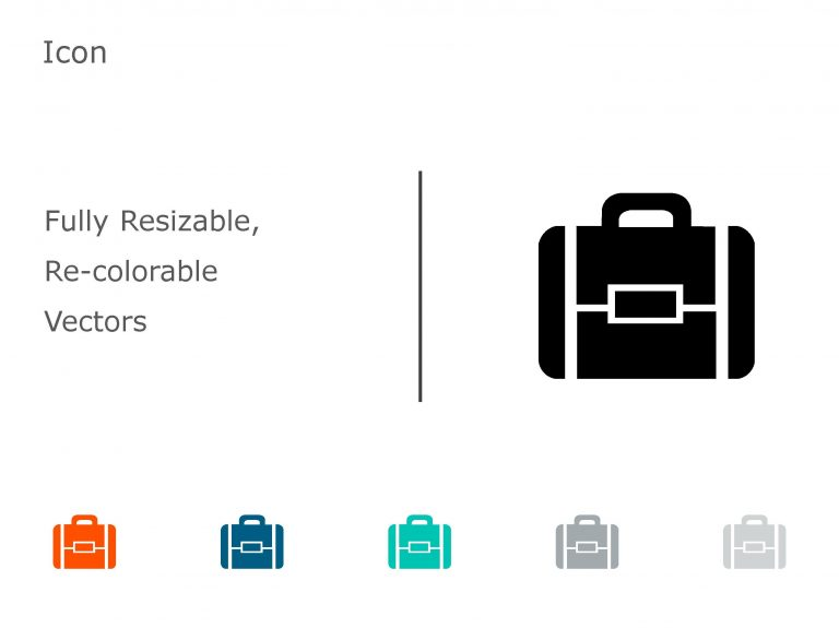 Briefcase Business PowerPoint Icon 18