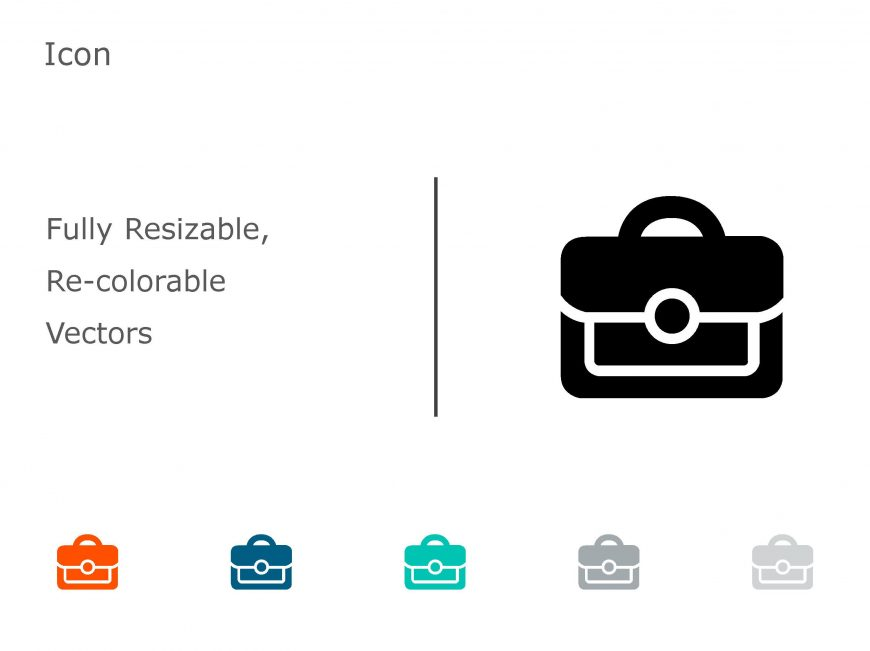 Briefcase Business PowerPoint Icon 20