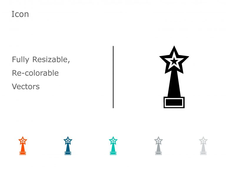 Trophy Achievements PowerPoint Icon 02