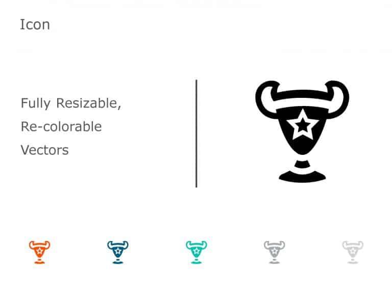 Trophy Achievements PowerPoint Icon 09