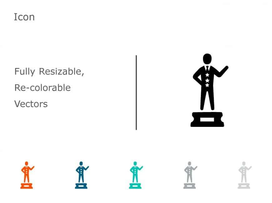 Trophy Achievements PowerPoint Icon 10