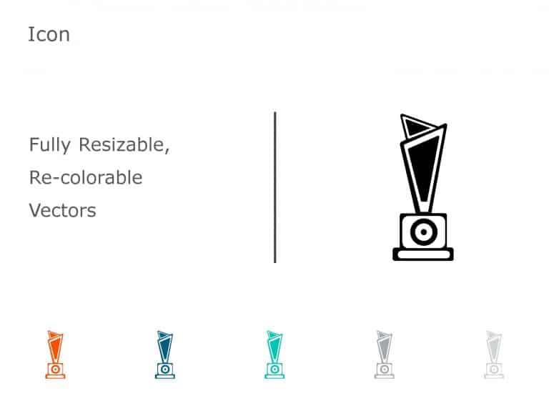 Trophy Achievements PowerPoint Icon 12