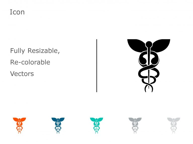 Caduceus PowerPoint Icon 05
