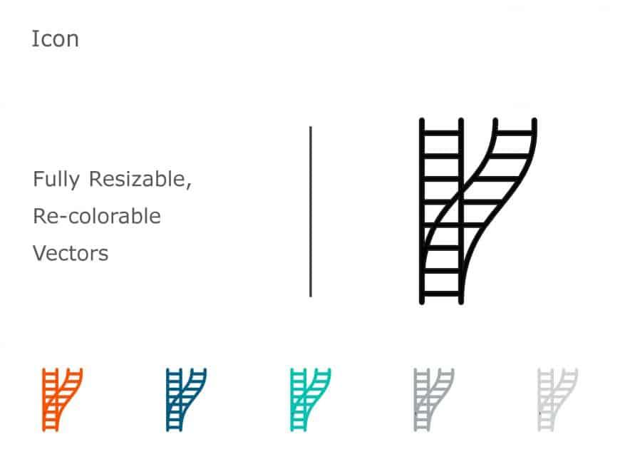 Ladder PowerPoint Icon 1