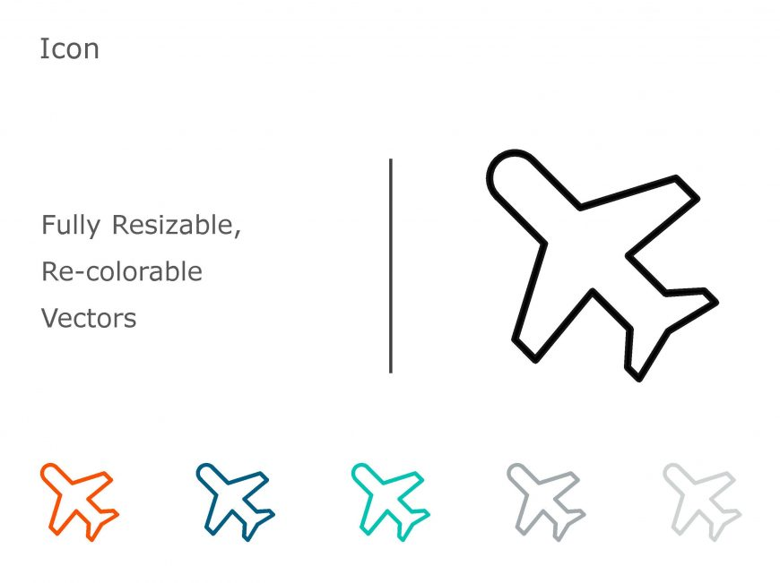 Plane PowerPoint Icon 1