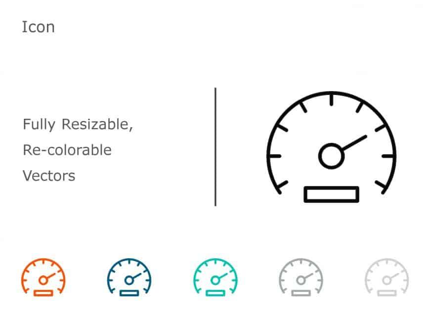 Speedometer PowerPoint Icon 1