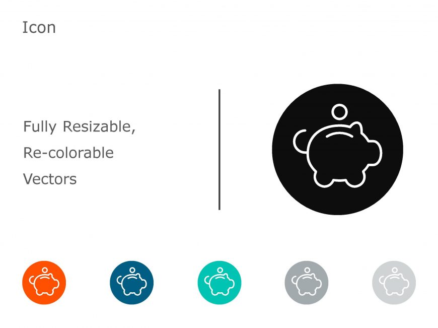 Piggbank Powerpoint Icon 1