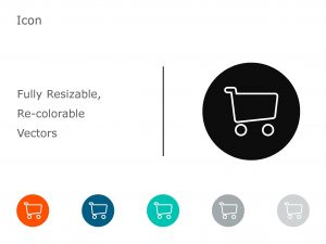 Shopping cart Powerpoint Icon 1