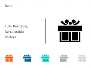 Gift PowerPoint Icon 1