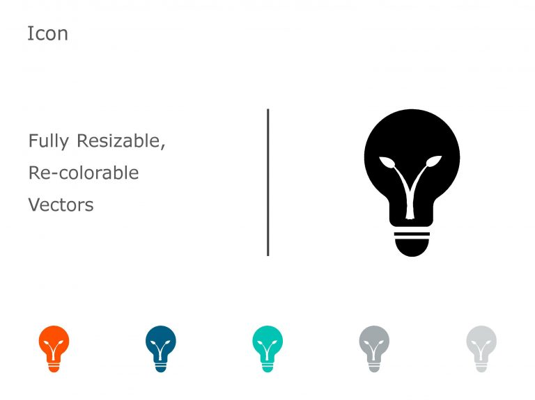 Bulb PowerPoint Icon 3