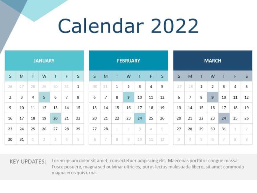 2022 PowerPoint Calendar Template 01