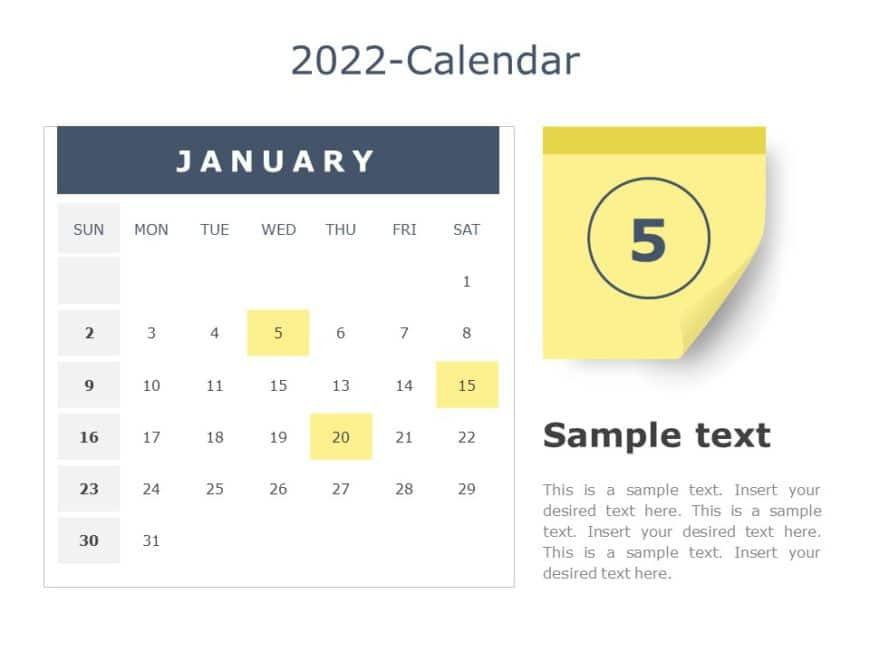 2022 PowerPoint Calendar Template 03