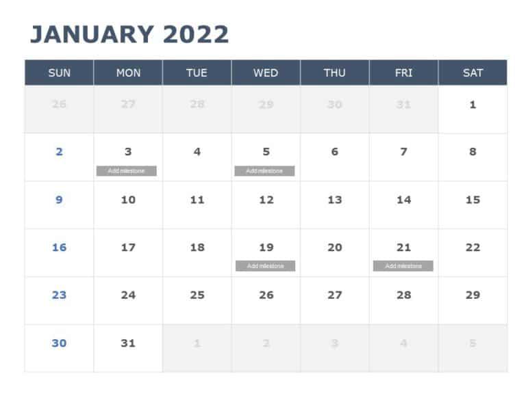 2022 PowerPoint Calendar Template 04