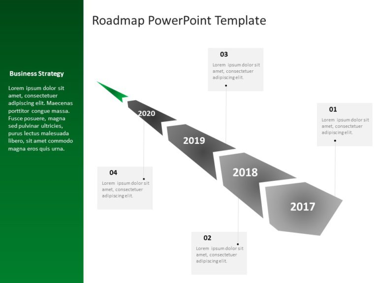 Animated Business Roadmap PowerPoint Template 20